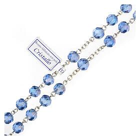 Rosario cristallo azzurro grani 5 mm Madonna Misericordiosa s3