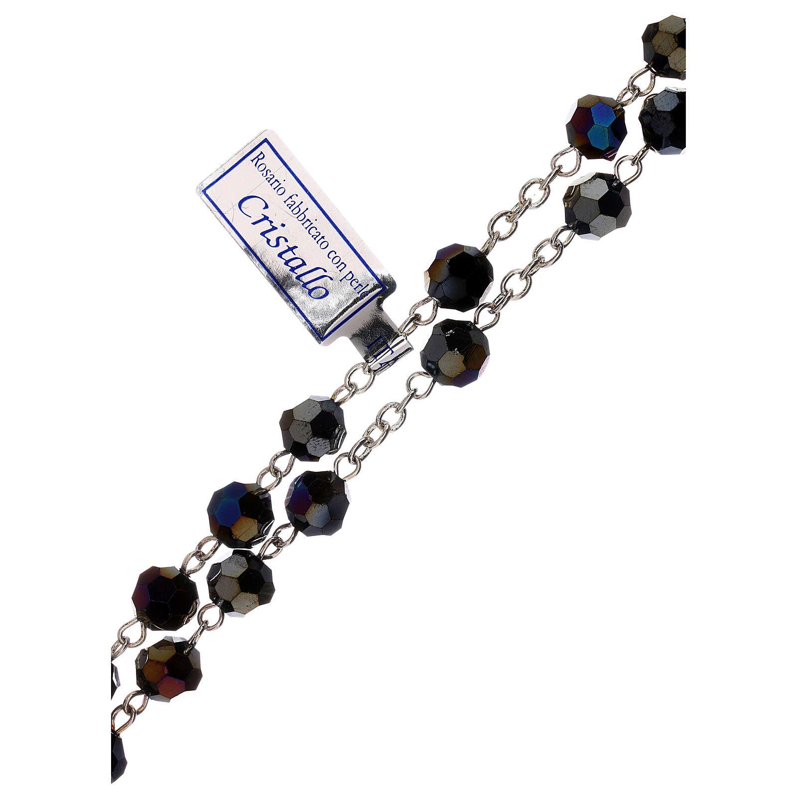 Chapelet cristal violet grains 5 mm Vierge Miraculeuse 4