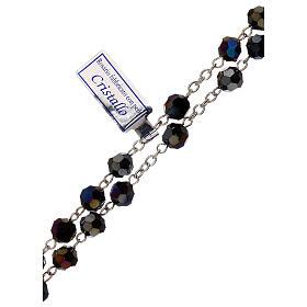 Chapelet cristal violet grains 5 mm Vierge Miraculeuse s3