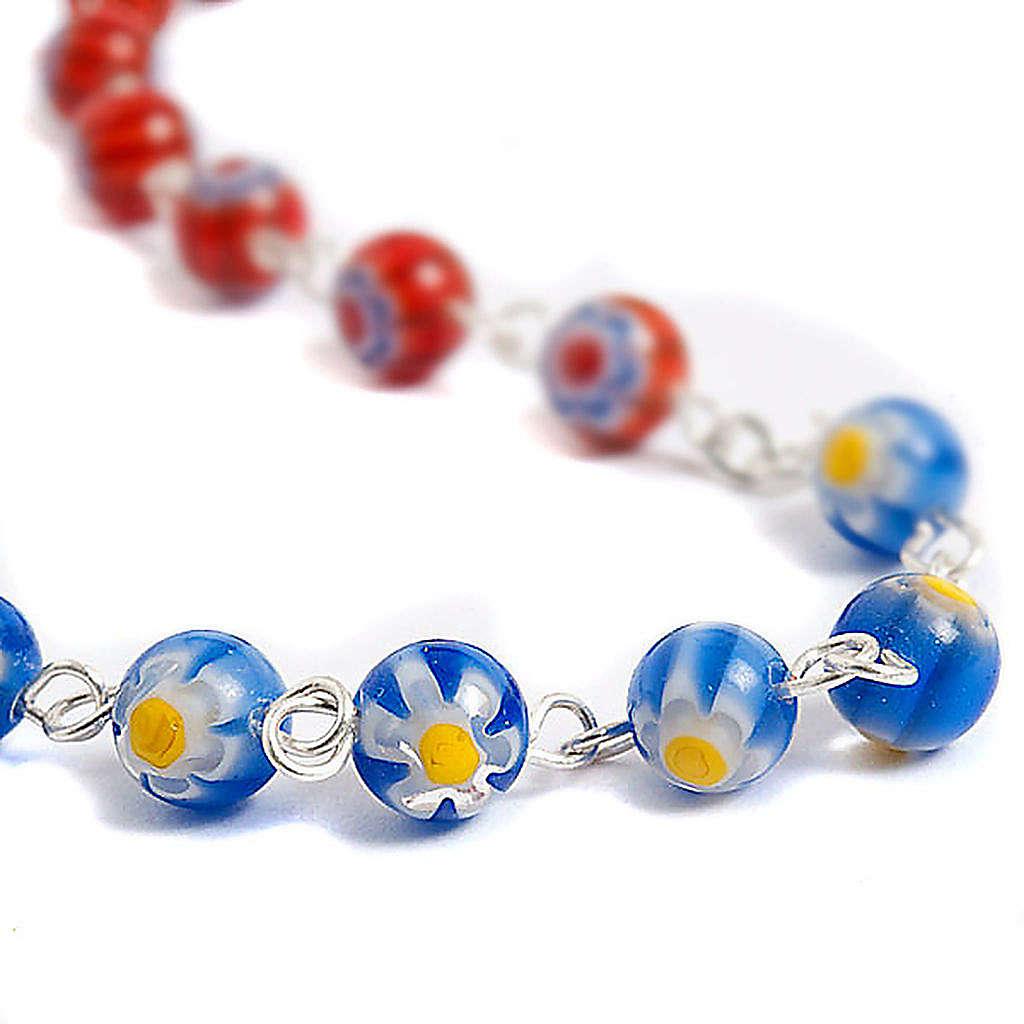 Multicoloured Murano style glass rosary 4
