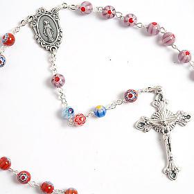 Multicoloured Murano style glass rosary s4