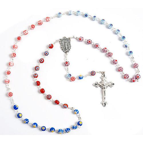 Multicoloured Murano style glass rosary 1