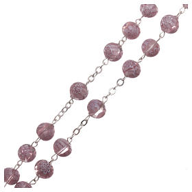 Rosary beads in Murano glass style amethyst colour 8mm s3