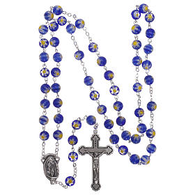 Blue Murano glass style rosary beads, 8mm s4