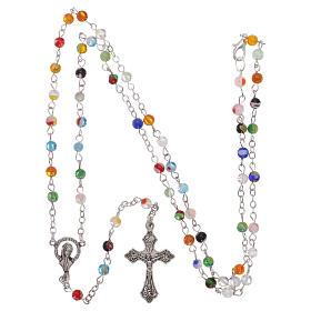 Rosenkranz mit vielfarbigen Perlen aus Murano-Glas-Imitation 4 mm s4