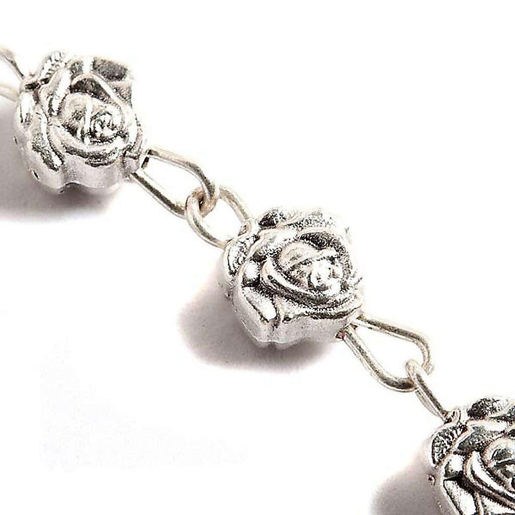 Chapelet, métal, roses 4