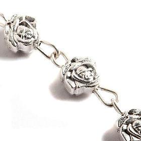 Chapelet, métal, roses s2