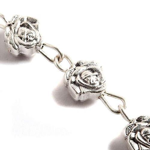 Chapelet, métal, roses 3