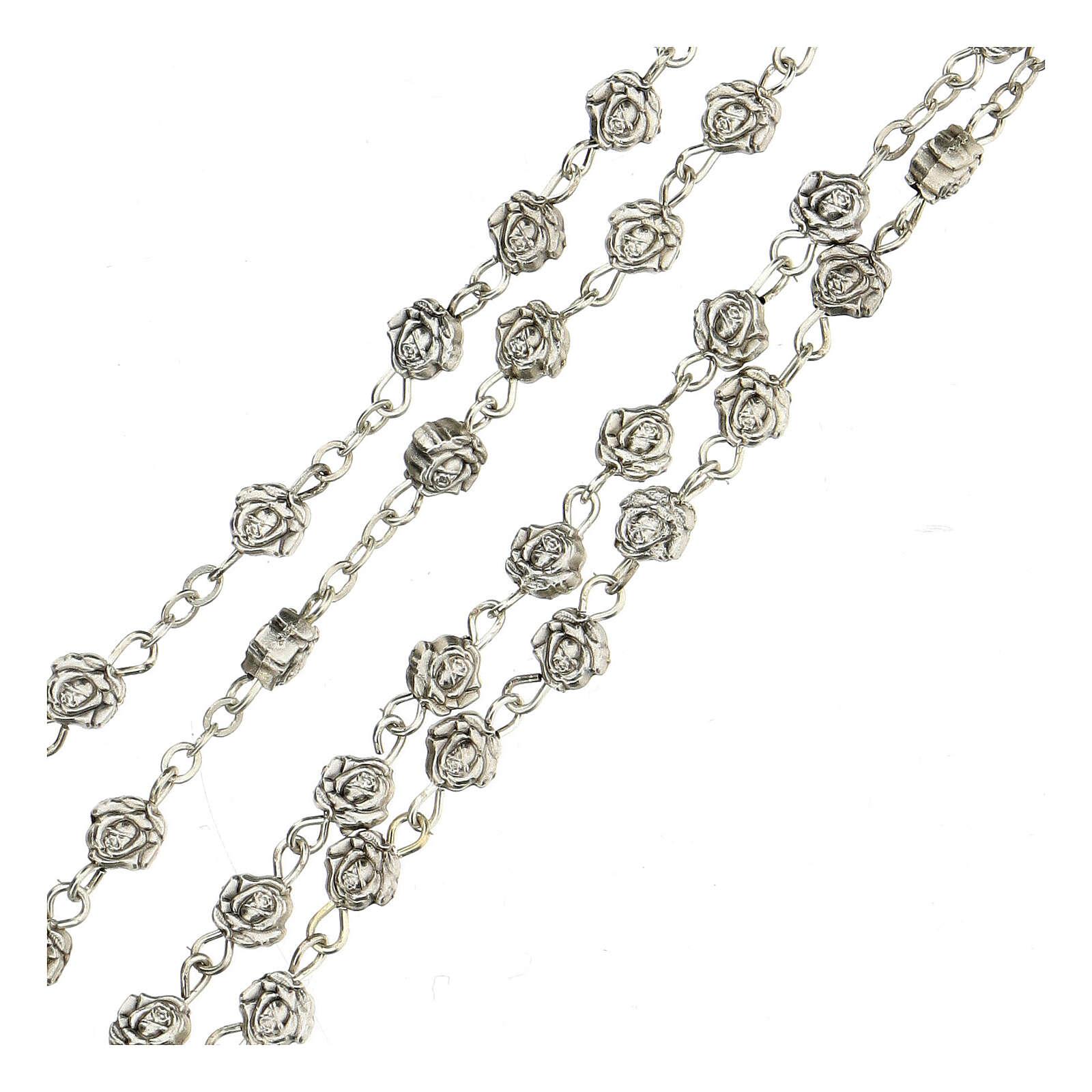 Metal rose-beads rosary 4