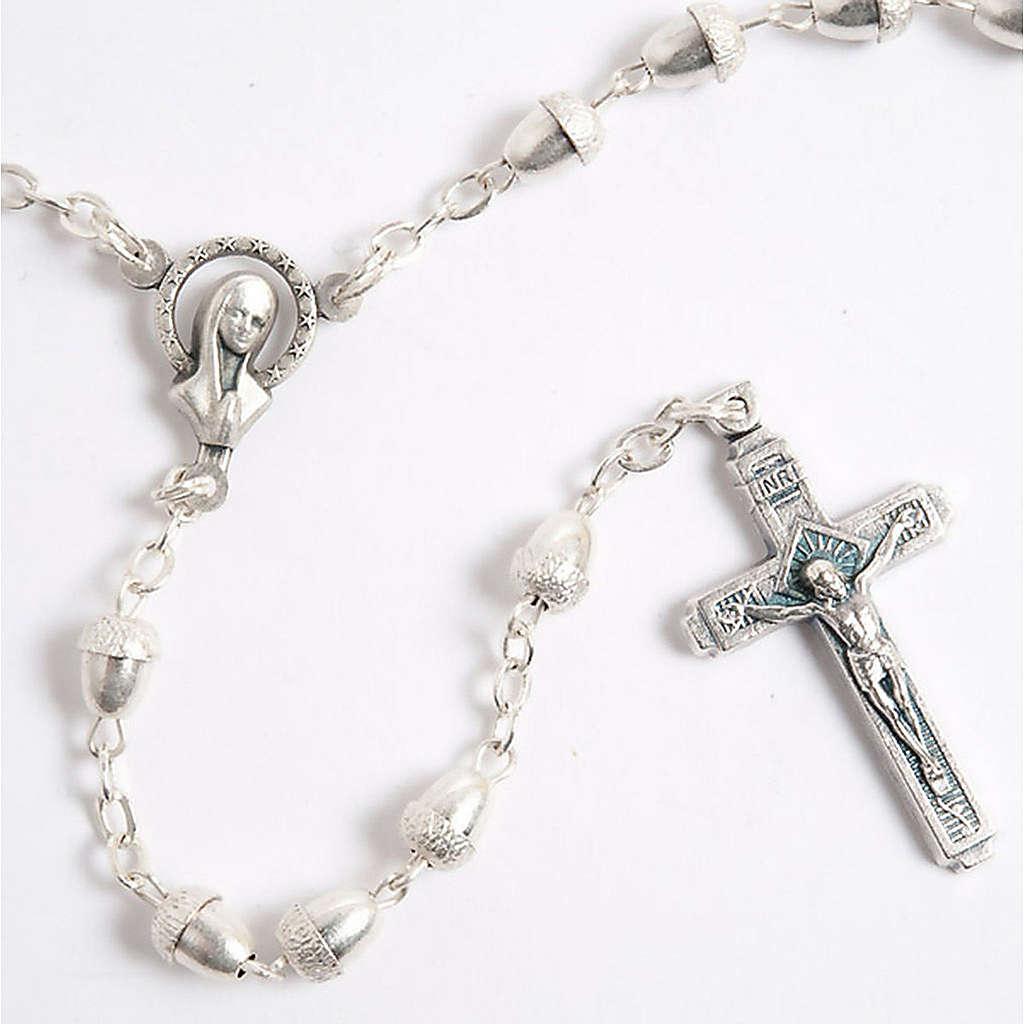 Metal acorn-beads rosary 4