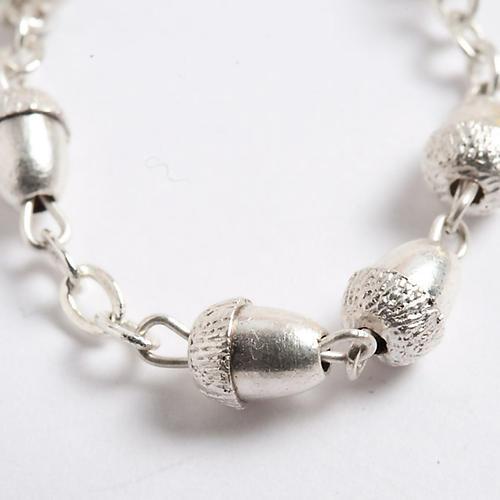 Metal acorn-beads rosary 3