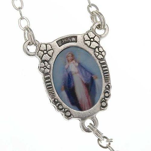 Rosario filigrana plateada Virgen Milagrosa 4