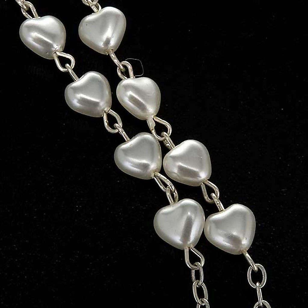 Chapelet Vierge Miraculeuse faux perle coeurs 4