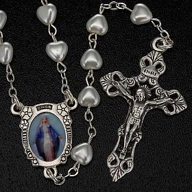 Chapelet Vierge Miraculeuse faux perle coeurs s2