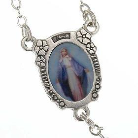 Chapelet Vierge Miraculeuse faux perle coeurs s4