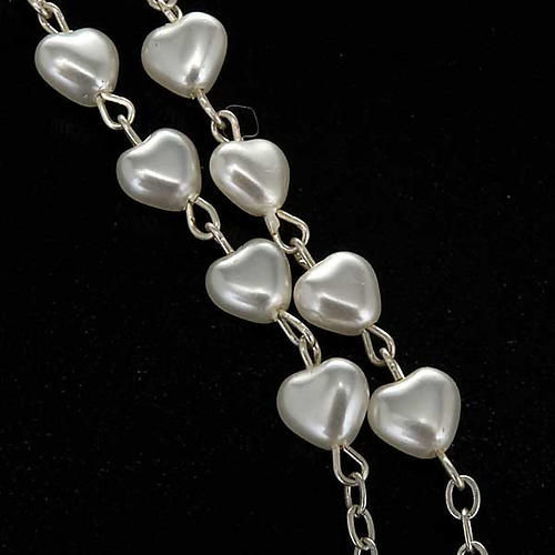 Chapelet Vierge Miraculeuse faux perle coeurs 3