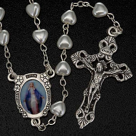 Miraculous Virgin Mary rosary with heart shaped beads s2