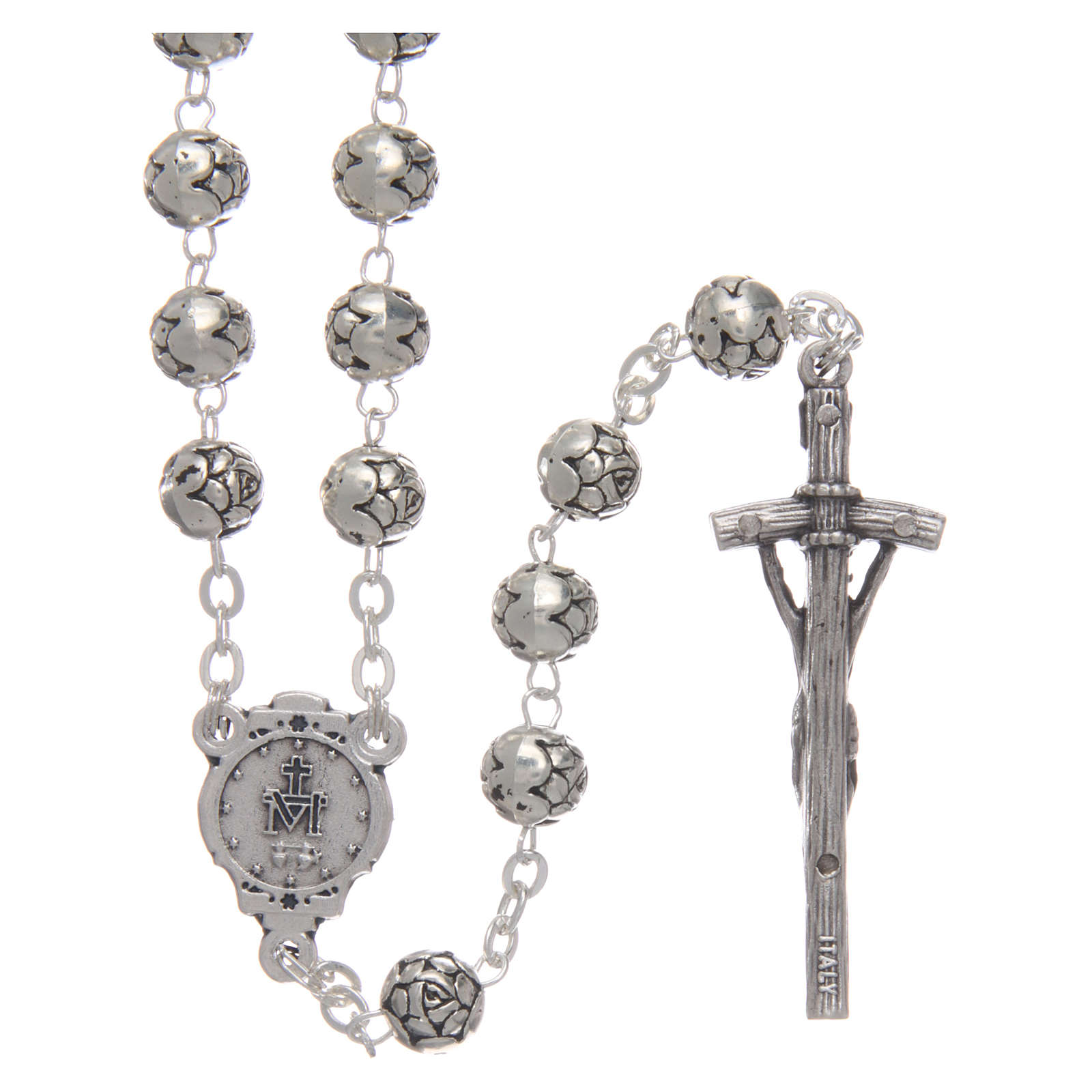 Rosario metal rositas cruz pastoral 4