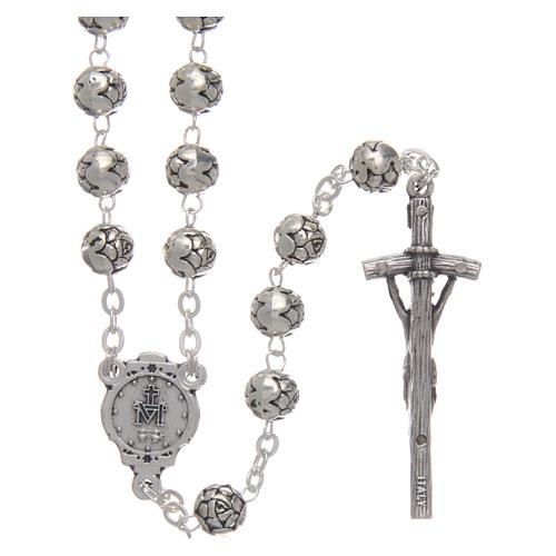 Rosario metallo roselline croce pastorale 2