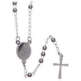 Rosarios metal: Rosario clásico color plata de acero 316L