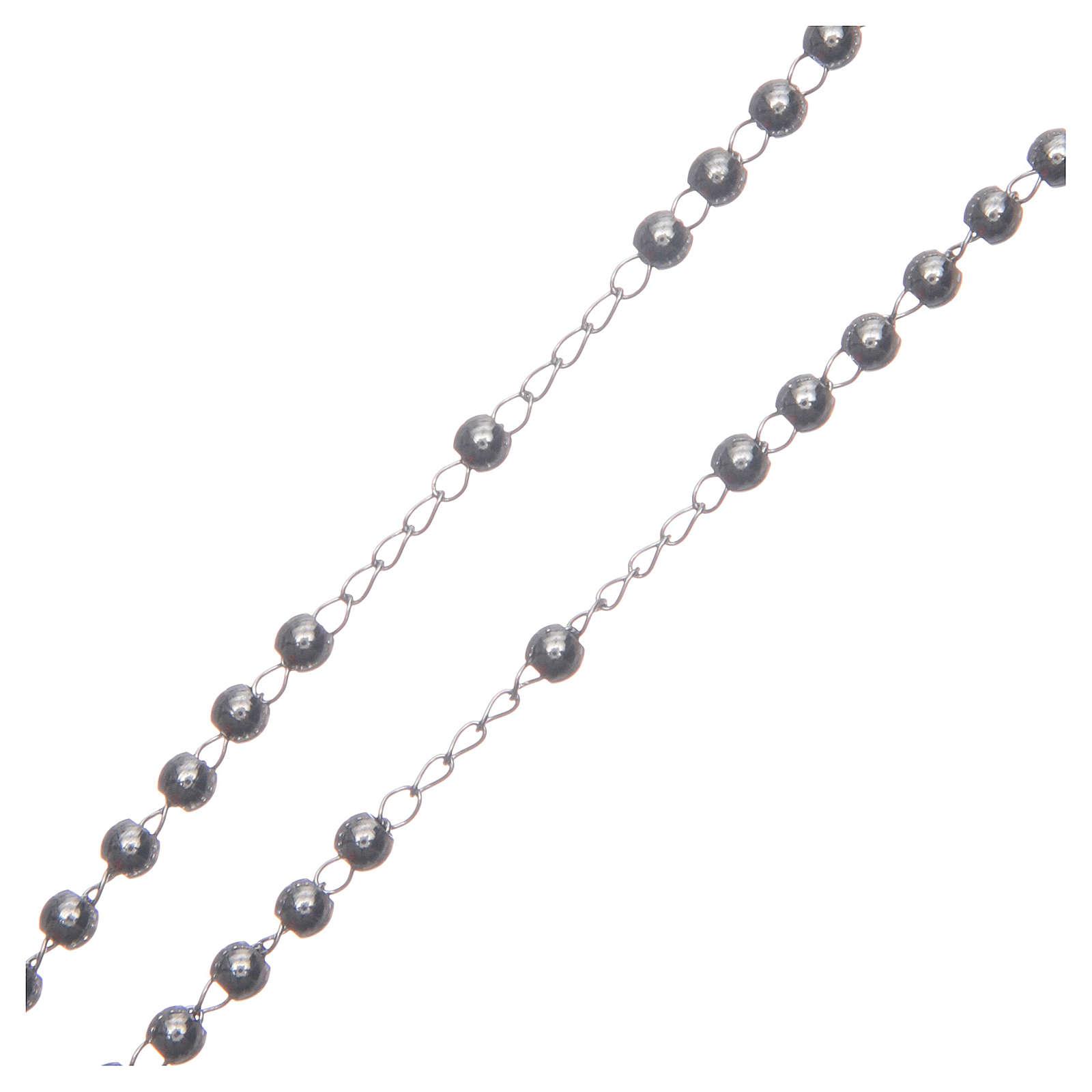 Chapelet classique couleur silver acier 316L 4