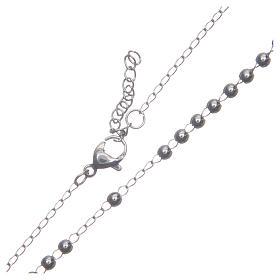 Rosario classico colore silver acciaio 316L s4