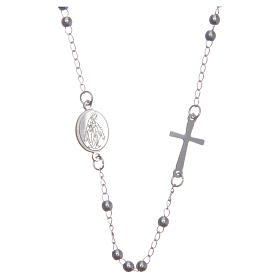 Rosary choker silver colour 316L steel s1