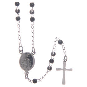 Classic rosary silver and black 316L steel s1