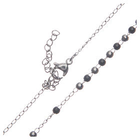 Classic rosary silver and black 316L steel s4