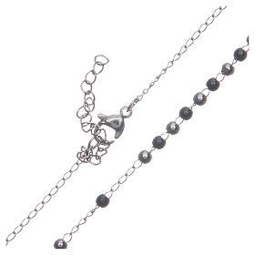 Rosario classico silver nero acciaio 316L s4