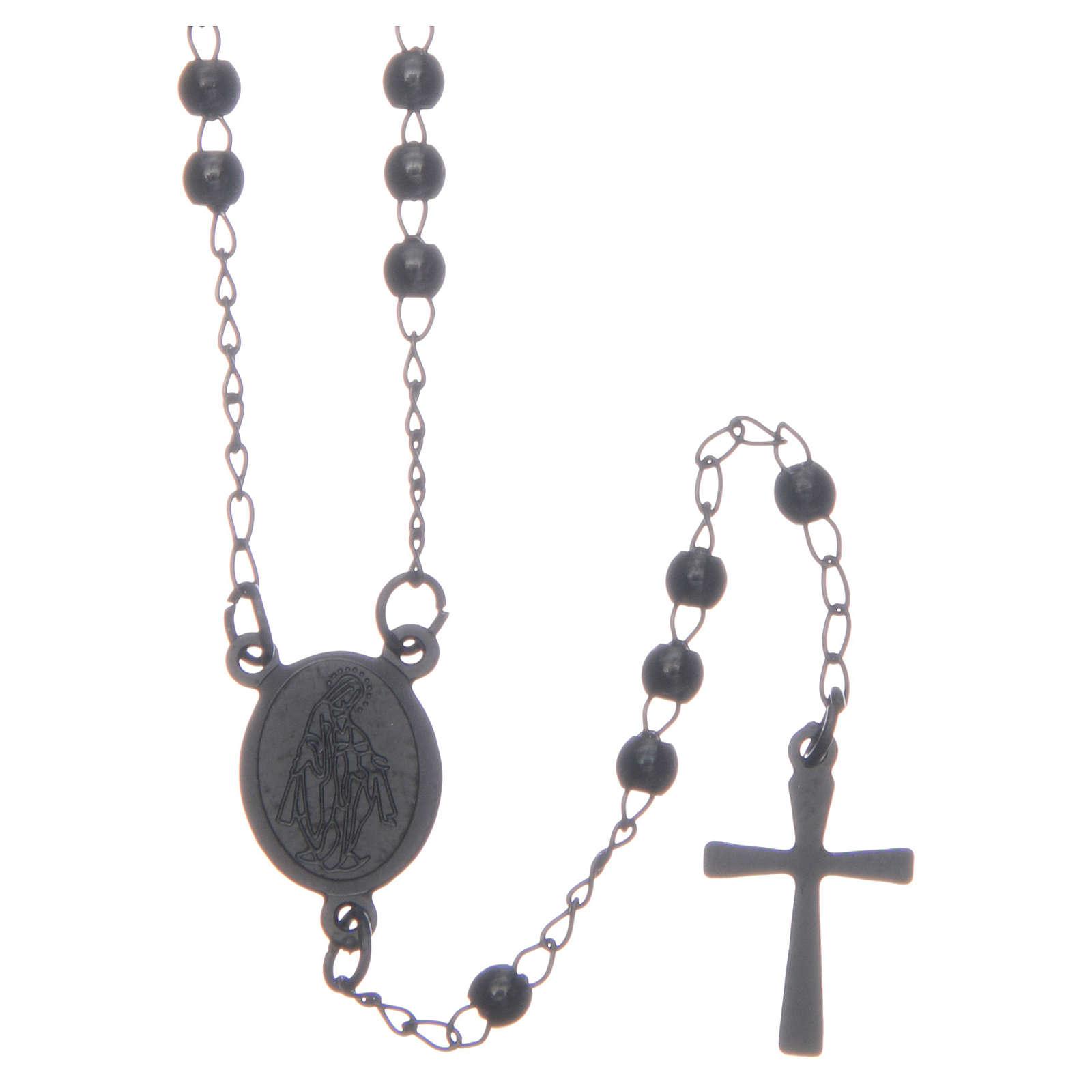 Classic rosary black 316L steel 4