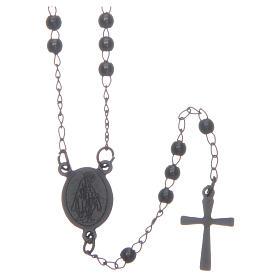 Classic rosary black 316L steel s1