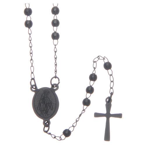 Classic rosary black 316L steel 1