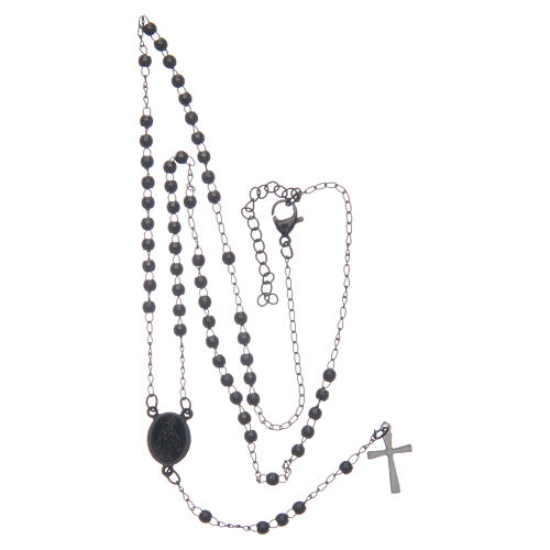 Classic rosary black 316L steel 5