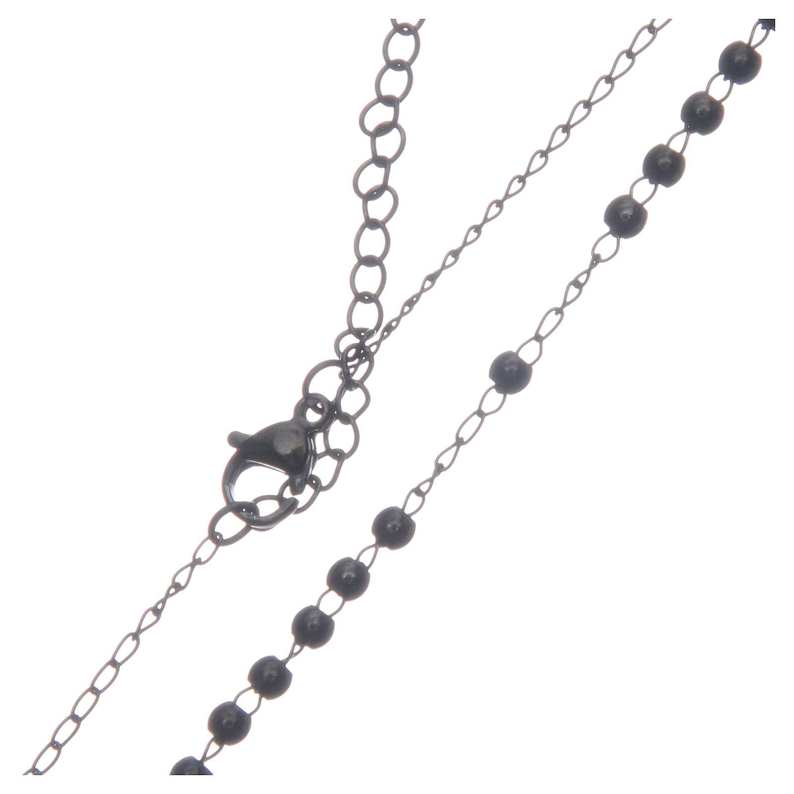 Chapelet classique noir acier 316L 4