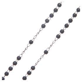 Rosario classico nero acciaio 316L s3