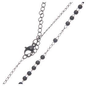 Rosario classico nero acciaio 316L s4