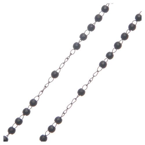 Rosario classico nero acciaio 316L 3