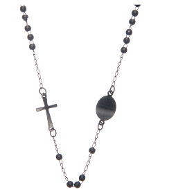 Rosary choker black in 316L steel s2