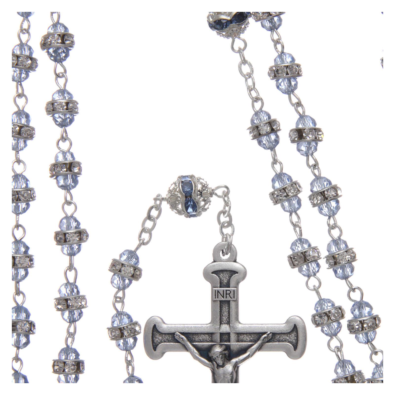 Rosario zafiro de cuentas strass y metal oxidado 4