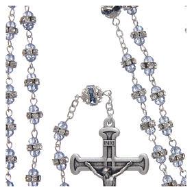 Rosario zafiro de cuentas strass y metal oxidado s4