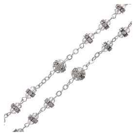 Crystal rosary in strass and steel s3