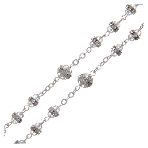 Crystal rosary in strass and steel 3