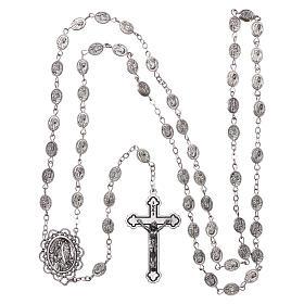 Rosario metallo Madonna di Lourdes acqua 8x6 mm s4