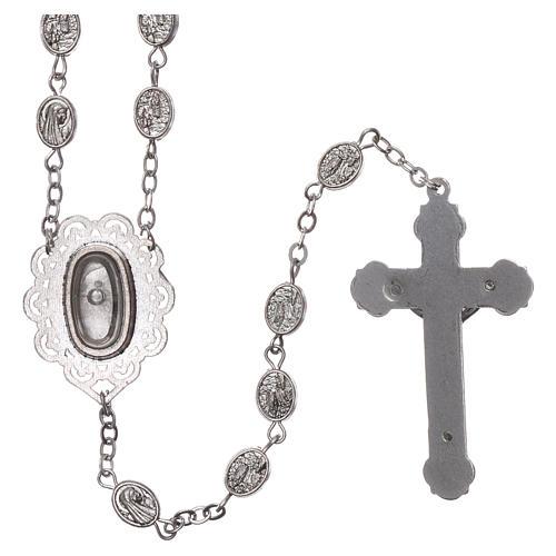 Rosario metallo Madonna di Lourdes acqua 8x6 mm 2