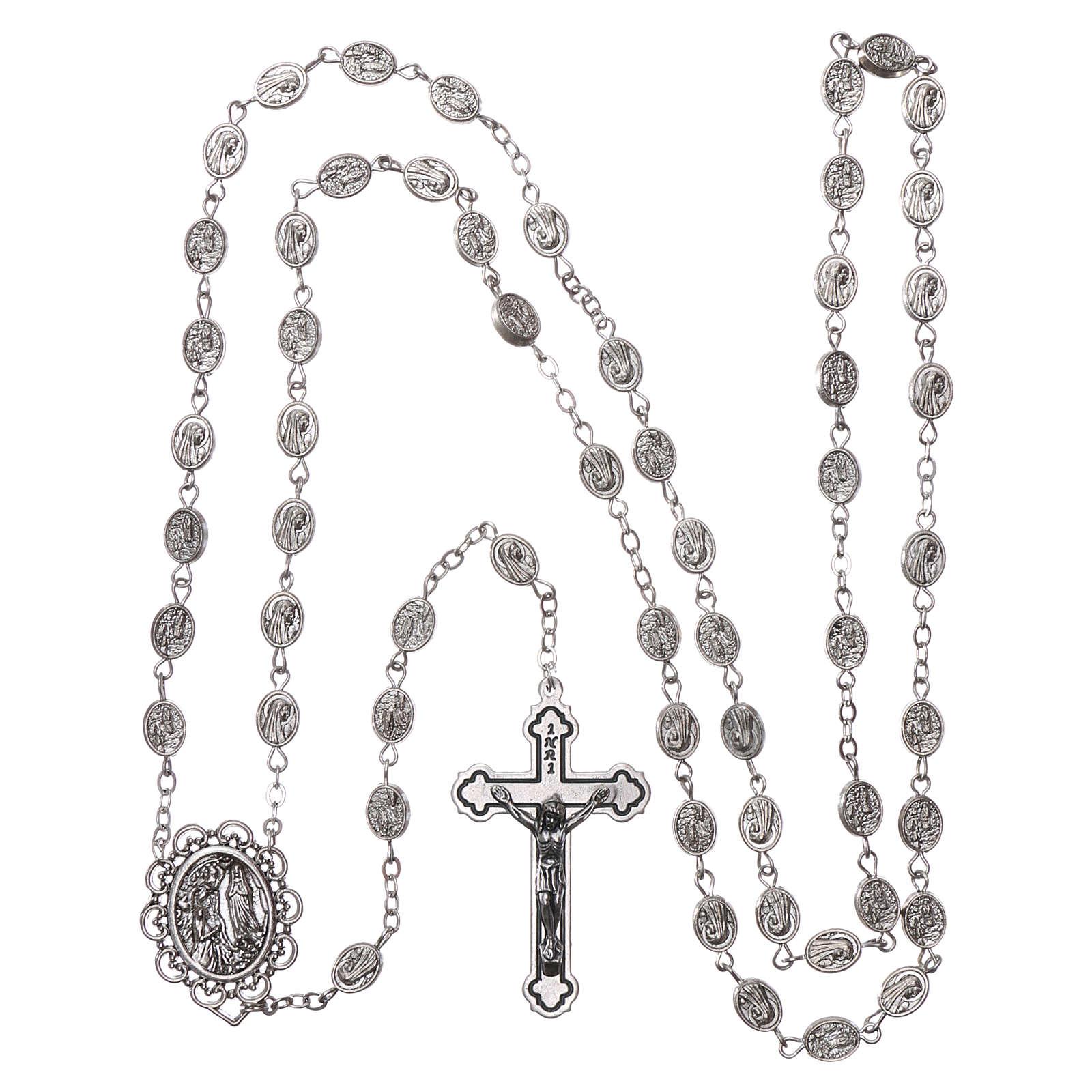 Różaniec metal Madonna z Lourdes woda 8x6 mm 4