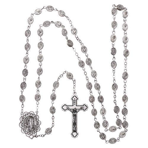 Metal rosary Our Lady of Lourdes water 8x6 mm 4