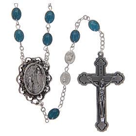 Rosario metallo Madonna di Lourdes con acqua 6x4 mm s1