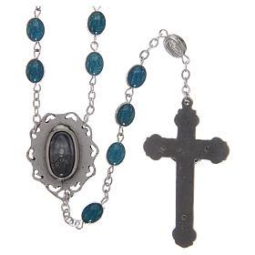 Rosario metallo Madonna di Lourdes con acqua 6x4 mm s2