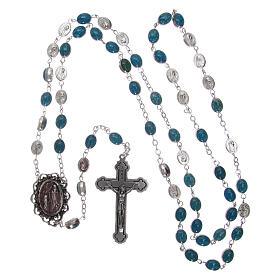 Rosario metallo Madonna di Lourdes con acqua 6x4 mm s4